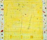 Bänderschnecke, 2009, mixedmedia on canvas, 100 x 100 cm