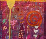 Die Geschichte vom roten Sonnenhut, 2009, 180 x 110 cm