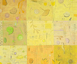 Objets trouvés, 2011, mixed media on canvas, 100 x 100 cm