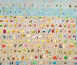 Steinsammlung, 2011, mixed media on canvas, 2011