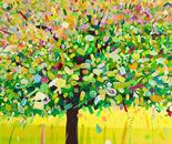 Frühlingsbaum für Glückspilze II, 2011, acrylic on canvas, 110 x 140 cm