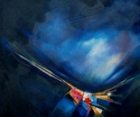 Awakenings Reloaded - with blue 2-62cm x 62cm - Oil on canvas