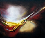 Awakenings Reloaded - with red - Triptych-Oil on Canvas.  183cm X 91cm