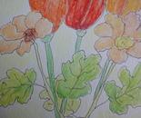 lenteboeket als behang
