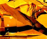 Orange Black Abstract