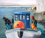 Fisherman docking