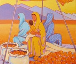 women at the market in south Morocco