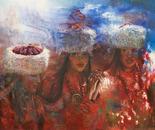 Tibetan Girls (2006, Oil on Canvas, 135cm x 120cm)