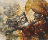 Sacred Sound No.2 (2006, Oil on Canvas, 135cm x 120cm)