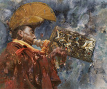 Sacred Sound No.1 (2005, Oil on Canvas, 135cm x 120cm)