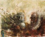 Sacred Sound No.4 (2007, Oil on Canvas, 135cm x 110cm)