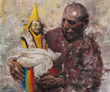 Going Home (2006, Oil on Canvas, 135cm x 120cm)