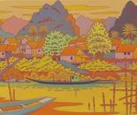 landscape in Laos