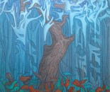 Forest Cathedral, 160x125 cm