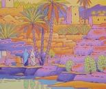 oasis in moroccain desert