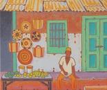 in a Zanzibarian village