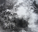 "Ascension, Charcoal, 23""x23"", 2012"