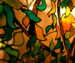 "Part from stained glass ""Orange Tree"""