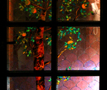 "The Stained Glass ""Orange Tree"""