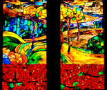"Stained Glass ""Autumn Landscape"""