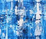still water 2013L1, 36x60, acrylic paint and resin on birch panel