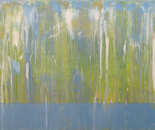 still water series 01, 36x80, acrylic paint and resin on birch panel