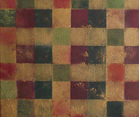 Feeling Square, Red and Green 100x40, 2013