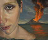 """The eye"" - 2012 - fat tempera on canvas - cm 40 x 30"