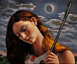 """Diana"" - 2013 - fat tempera on canvas - cm 50 x 40"