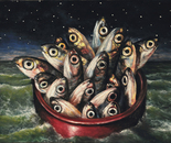 """Sailors"" - 2011 - fat tempera on canvas - cm 50 x 40"