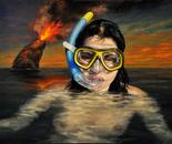 """Monna lisa resurfacing""  - 2011 - fat tempera on canvas - cm 50 x 40"