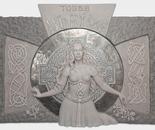 Celtic Goddess 'Bride', 5 x 8 feet large relief