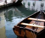 Wooden Boat in Venice Canal