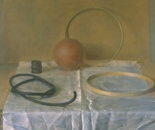 Still life with red sphere