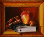 Apple,book and Frame