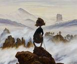 Wanderer in Foggy Seas