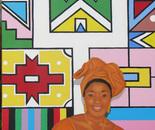 Tutti i colori dell Africa - olio su tela, cm 70x100