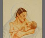 un bambino nato per noi - pastello su foglio murillo, 70 x 100