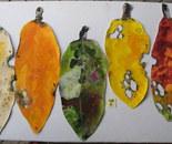 Pohutukawa Leaves . Lge 2013