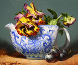 Pansies and Delft