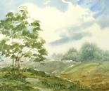 watercolor landscape painting 632