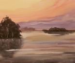 sunset lakeside landscape 644