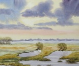 wide landscape painting 654