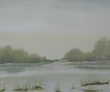 lakeside watercolor painting 658