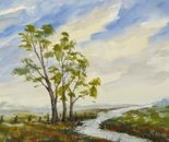 watercolor landscape painting 659