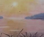 sunset lakeside landscape 663