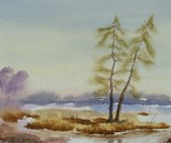 landscape watercolor painting 687