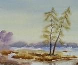 landscape watercolor painting 687