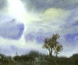 dark sky landscape painting 692