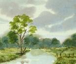 river landscape painting 696